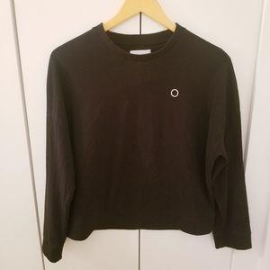 Oak + Fort | 100% Cotton Black Sweatshirt Crew